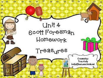 Scott Foresman Unit 4 Homework - 1st Grade