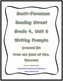 Scott-Foresman Unit 6 Grade 4 Writing Prompts with Rubric