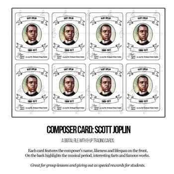 Scott Joplin Composer Trading Card