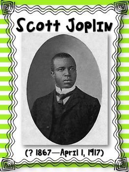 Scott Joplin Composer of the Month Bulletin Board Set {Youtube Links}