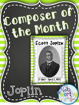 Scott Joplin Composer of the Month Bulletin Board Set {You