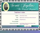 Scott Joplin; The King of Ragtime - A Study On This Great American Composer