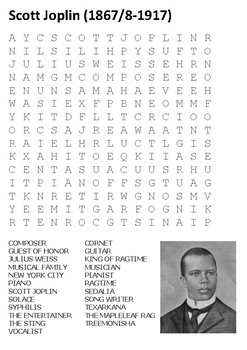 Scott Joplin Word Search