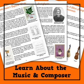 Scott JoplinS Ragtime Music Lesson Plan Musical Lesson Plan  Tpt