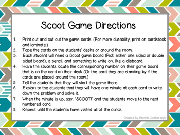 Scoot Subtraction with Regrouping