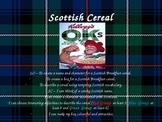 Scottish Cereal Boxes Descriptive Words Lesson