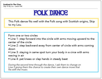 Scottish Folk Song Lesson Plan KIT