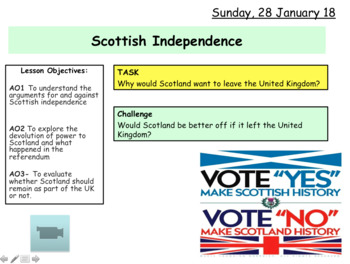 Scottish Independence Referendum - Devolution NEW GCSE Citizenship 9-1
