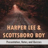 Harper Lee and Scottsboro Boys Background Activities and Quizzes