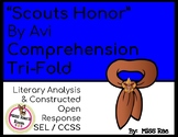 Scout's Honor by Avi Short Story Comprehension Question Tri-fold