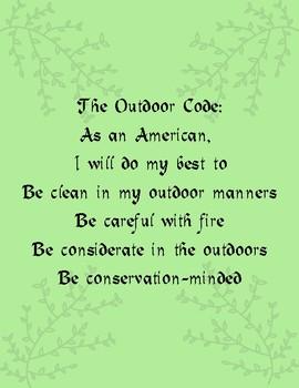 Scouts BSA Outdoor Code
