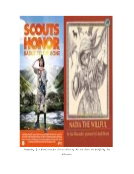 Scout's Honor and Nadia the Willful Vocabulary matching worksheet!