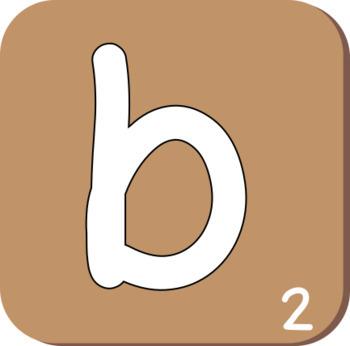 Scrabble Alphabet Clip Art
