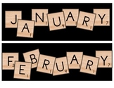 Scrabble Calendar Headings