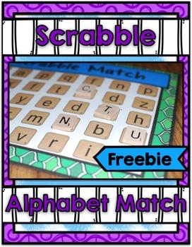 Scrabble Center ~ Freebie