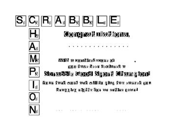 Scrabble Champion awards