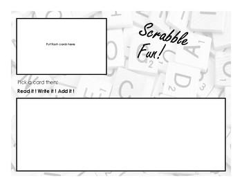 Scrabble Fun sight word Game
