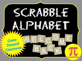 Scrabble Game Pieces Alphabet