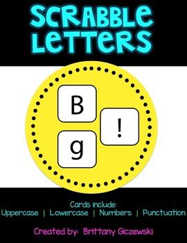 Scrabble Letter Card Tiles