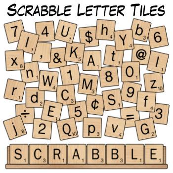 scrabble letter tiles clip art by digital classroom clipart | tpt