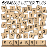 Scrabble Letter Tiles Clip Art
