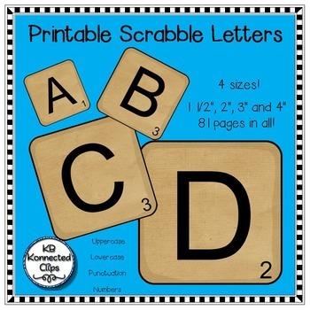Scrabble Letters! by KB Konnected   Teachers Pay Teachers