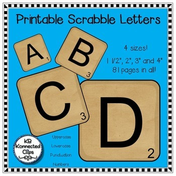 photo regarding Scrabble Letters Printable referred to as Scrabble Letters!