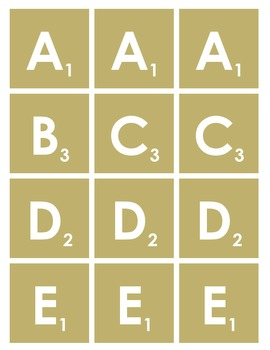 image relating to Scrabble Letters Printable named Scrabble Letters Printable
