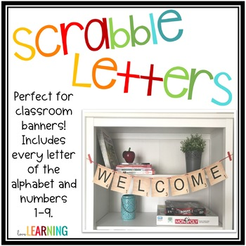 Scrabble Letters - Use for Banners, Labels, or Bulletin Boards
