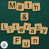 Letter Card Math and Literacy Center Activities