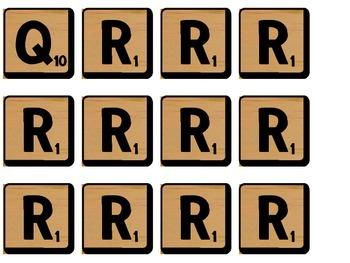 Scrabble Math Words Bulletin Board