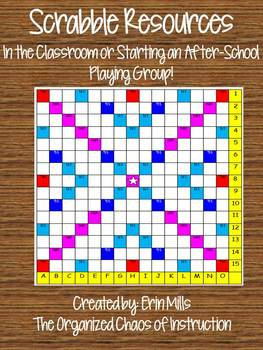 Scrabble Resources-Playing in the Classroom and/or Startin