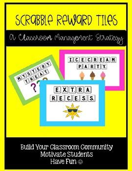 Scrabble Reward Tiles - Classroom Management Strategy