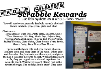 Scrabble Rewards Big Pack!! 4 different colors and 20 diff