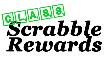 Scrabble Rewards Big Pack!! 4 different colors and 20 different reward choices!
