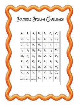 Scrabble Spelling Activities