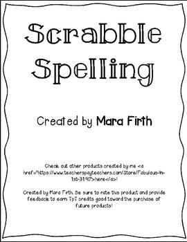 Scrabble Spelling Activity