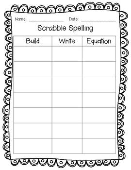 Scrabble Spelling & Math