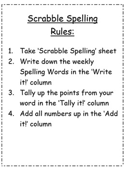 Scrabble Spelling (Rules and Tiles to Print Included)