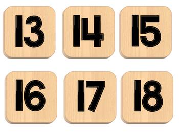 Scrabble Themed Calendar Pieces