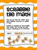 Scrabble Tile Math