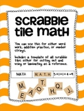 Scrabble Tile Math
