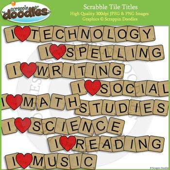 Scrabble Tile Titles
