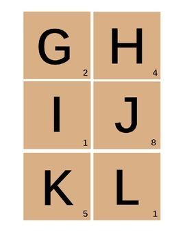 Scrabble Tiles ~ Larger Size and Extra Vowels ~ ELA Center Idea
