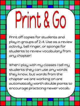 Scrabble Vocabulary Game