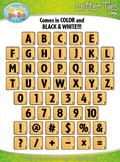 Wood Alphabet Tiles Clipart {Zip-A-Dee-Doo-Dah Designs}