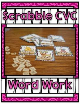 Scrabble Word Work Center ~ CVC Phonics