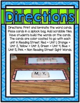 Scrabble Word Work Center ~ Sight Words
