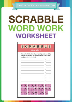 Scrabble Word Work - Spelling Activity Sheet