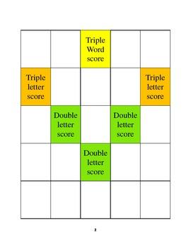Scrabble board set